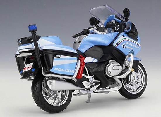 /'POLIZIA/' BMW R 1200 RT - Police Motorbike Model Scale 1:18 Blue Maisto