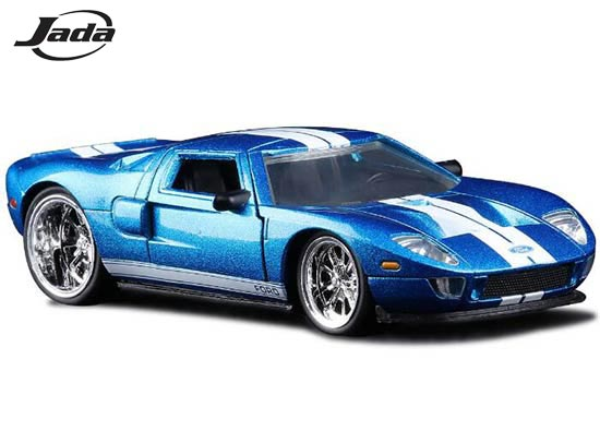 Jada Ford Gt Cast Car Toy  Scale Red Blue