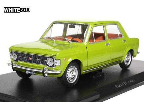 Whitebox 1969 Fiat 128 Diecast Car Model 124 Scale Green Bb01a403