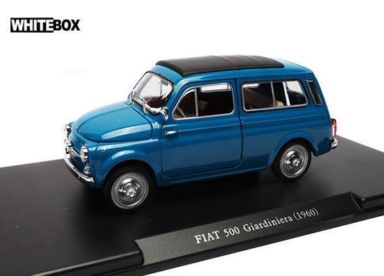 Whitebox 1960 Fiat 500 Giardiniera Diecast Car Model 1 24 Blue