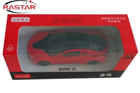 Rastar BMW I8 Diecast Car Model 1:43 Scale Red / Black