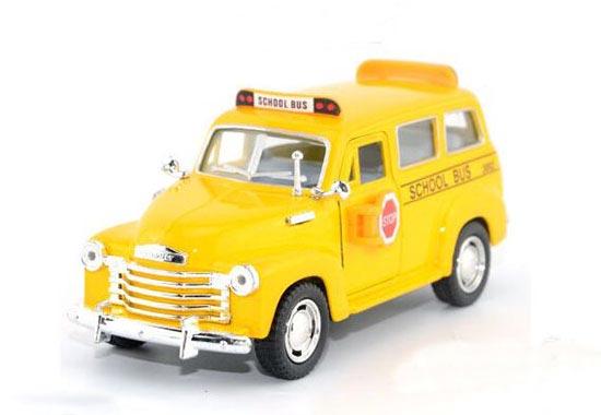 1950 Suburban School Yellow Bus 1:36 Scale Die-cast School Bus