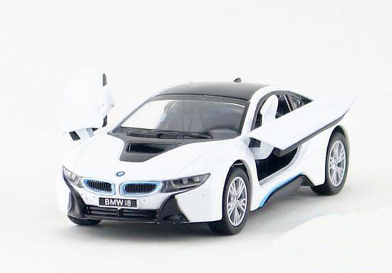 Kinsmart Bmw I8 Diecast Car Toy 1 36 Black White Blue Silver